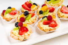 Plate of fruit dessert Royalty Free Stock Images