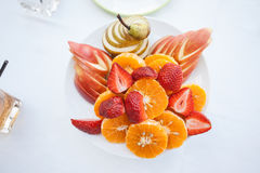Plate with fruit Royalty Free Stock Photo