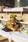 A plate of fruit at the wedding banquet Stock Photography