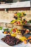A plate of fruit at the wedding banquet Royalty Free Stock Image