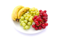 Plate of fruits Stock Photography