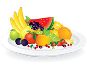 Plate with Fruits Royalty Free Stock Images