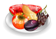 Plate with fruits Royalty Free Stock Image