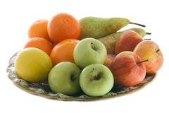 Plate of fruits Stock Photos