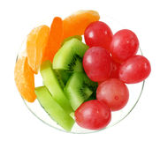 Plate of fruits Royalty Free Stock Image