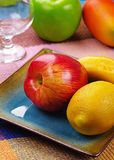 A plate of fruits Stock Photography