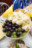 Plate of fruits royalty free stock photography