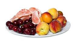 A plate with fruits Royalty Free Stock Photos