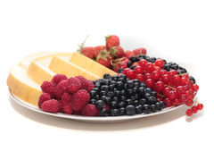 A plate of fruits. Stock Photos