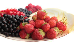 A plate of fruits. Royalty Free Stock Images