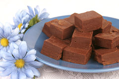 Plate of Fudge 1 Royalty Free Stock Photos