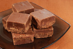 Plate of Fudge Royalty Free Stock Images