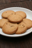 Plate full of biscuits Royalty Free Stock Images