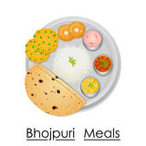 Plate full of delicious Bhojpuri Meal Stock Photography