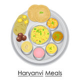Plate full of delicious Haryanvi Meal Royalty Free Stock Photography