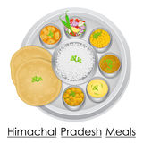Plate full of delicious Himachal Pradesh Meal Stock Photo