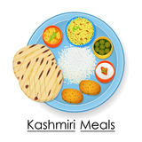 Plate full of delicious Kashmiri Meal Royalty Free Stock Photos