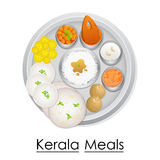 Plate full of delicious Kerala Meal Stock Photo