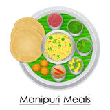 Plate full of delicious Manipuri Meal Stock Photography
