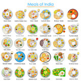 Plate full of delicious Meals of India Stock Images