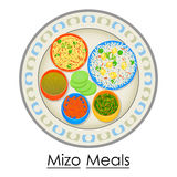 Plate full of delicious Mizo Meal Stock Photography