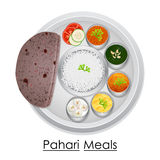 Plate full of delicious Pahari Meal Royalty Free Stock Photography
