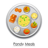 Plate full of delicious Pondy Meal Royalty Free Stock Photography