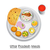 Plate full of delicious Uttar Pradesh Meal Royalty Free Stock Image