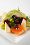 Plate full of fresh fruits Stock Image