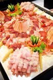 Plate full with Ham Royalty Free Stock Photos