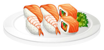 A plate full of sushi Stock Photo