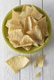 Plate full of tortilla chips Royalty Free Stock Images