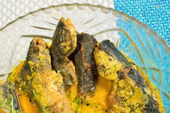 A plate full of Tyangra fishes , Bengali and Indian delicacy Stock Photos