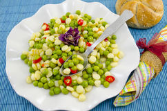 Free Plate Full With Cooked Peas Corn And Pepper Royalty Free Stock Photo - 51575385