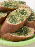Plate Of Garlic Bread Royalty Free Stock Photos