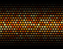 Plate geometric pattern of closing hexagons Royalty Free Stock Photography