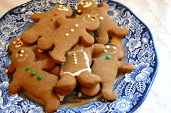 Plate of Gingerbread Cookies Stock Photos