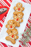 Plate of Gingerbread Men Stock Image