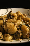 A plate of Gnocchi in a mushroom sauce Stock Images
