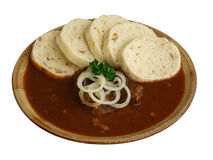 Plate with goulash Royalty Free Stock Photography