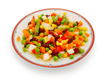 plate grönsaker Royaltyfri Fotografi