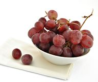 Plate with grapes Royalty Free Stock Image