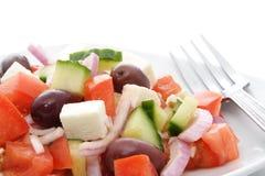 Plate of greek salad Stock Photos