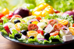 Plate of greek salad Stock Image