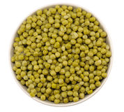 Plate of Green Peas Stock Photo