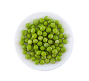Plate with green peas. Royalty Free Stock Photos
