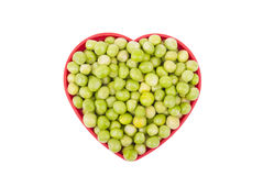 Plate with green peas Stock Photography