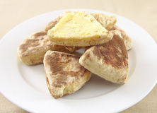 Plate of griddle scones Royalty Free Stock Image