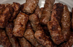 Plate with grilled cevapcici balkan cuisine Royalty Free Stock Photo