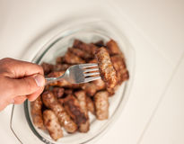 Plate with grilled cevapcici balkan cuisine Stock Photo
